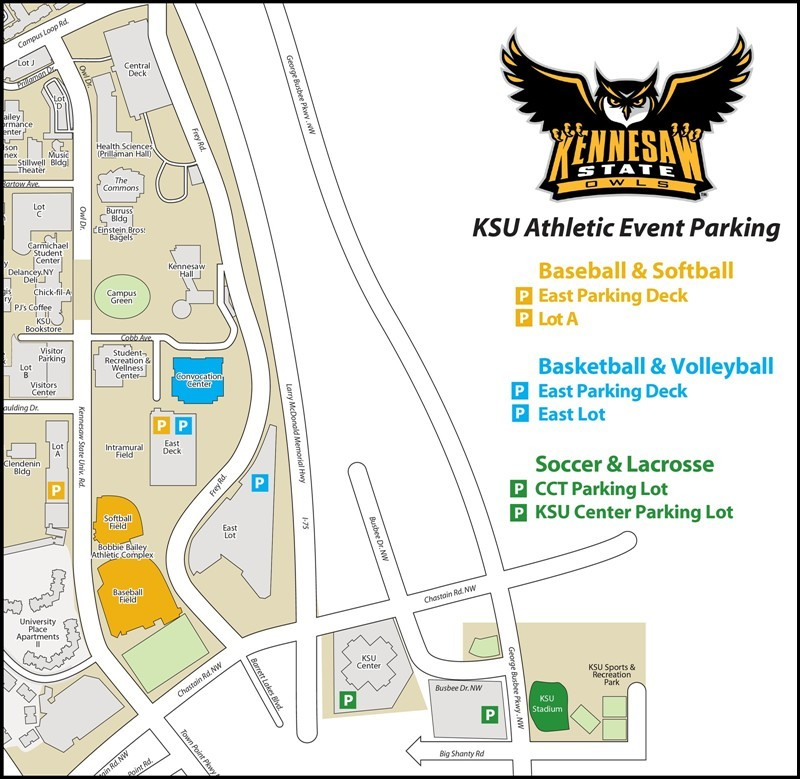 Athletics Parking Map - Kennesaw State University Athletics on piedmont state map, sacramento state map, arlington state map, cleveland state map, vienna state map, boise state map, ksu map, milwaukee state map, chicago state map, bremen state map, seattle state map, wichita state map, mountain state university campus map, valdosta state map, united states state map, clayton state map, dalton state map, wright state map, spokane state map, albany state map,
